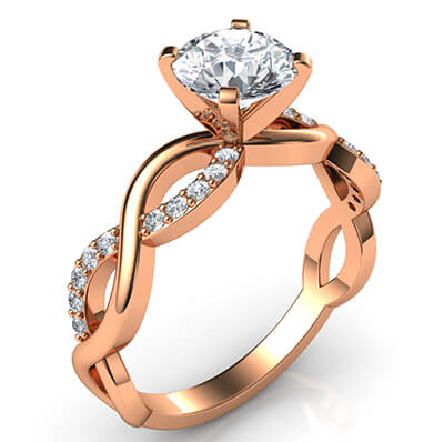 Rose Gold Infinity engagement ring for all shapes and sizes
