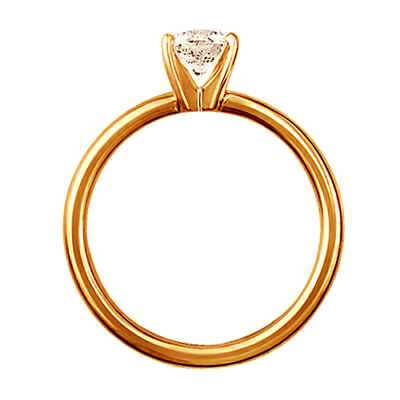 Rose gold 2mm Solid tube solitaire engagement ring