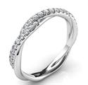 Foto Cristal - el anillo de boda de la cuerda con diamantes de