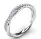 Picture of Crystal- the rope wedding band with diamonds