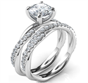 Picture of Crystal-the rope bridal set with dismonds, for all diamonds shapes and sizes