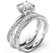 Foto Conjunto nupcial con cuerdas de cristal, sin costuras, para todas las formas y tamaños de diamantes de