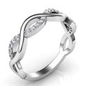 Picture of Infinity wedding band with 0.20 carat accent diamonds