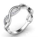 Foto Alianza de boda Infinity con diamantes de 0,20 quilates. de