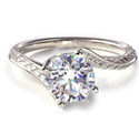 Picture of Vintage style wheet motif solitaire engagement ring