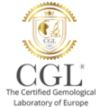Logotipo del laboratorio de diamantes CGL