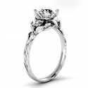 Picture of Leaf motif Vintage style engagement ring-Sharon