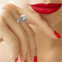 Picture of Filigree Designers model prongs head Solitaire engagement ring