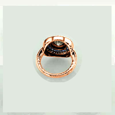 Rose gold Victorian Replica Vintage Engagement ring