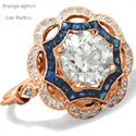 Foto Anillo Art Deco anillo de compromiso de diamantes Halo de