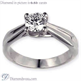 Picture of Criss Cross  solitaire engagement ring
