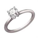 Foto Sólido anillo de compromiso en forma de tubo de