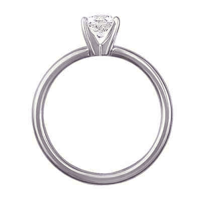 Solid tube engagement ring