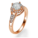 Picture of Rose Gold One row Halo for bigger diamonds