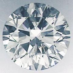 Foto 1.06 quilates, diamante redondo con corte ideal, H SI1 y certificado por IGL de