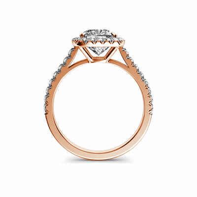 Halo de diamante delicado cojín para el anillo de compromiso cojín