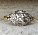 Picture of Genuine 1920's Art Deco Engagement ring set with natural diamond 0.41 total carat