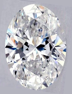 Picture of 2.04 Carats, Oval Diamond with Very Good Cut, E Color, VS2 Clarity and Certified By IGL