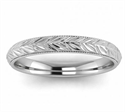 Picture of 3mm wheat motif Woman's wedding band