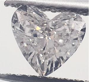 Foto 0.58 quilates, Heart Diamond con muy buen corte, color E, claridad VS2 y certificado por EGS / EGL de