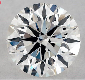 Picture of 0.70 Carats, Round  Diamond with Ideal Cut ,F SI1, Certified by GIA