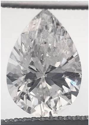 Picture of 2.04 Carats, Pear Diamond with Very Good Cut , D SI1 C.E and Certified by EGS/EGL