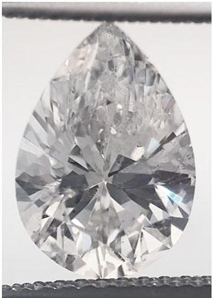 Foto 2.04 quilates, pera diamante con muy buen corte, D SI1 C.E y certificado por EGS / EGL de