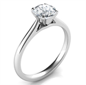 Picture of Delicate solitaire engagement ring settings -Patricia