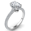 Picture of Oval hidden halo engagement ring