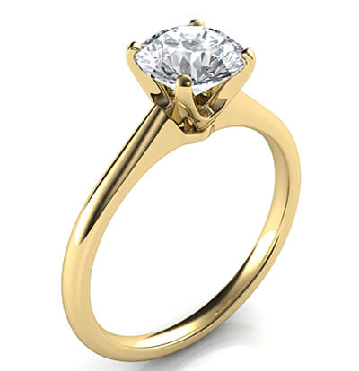 Delicate Novo solitaire engagement ring, Alice