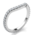Picture of Matching wedding band for larger diamonds Halo of all shapes