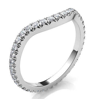 Matching wedding band for larger diamonds Halo of all shapes