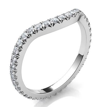 Alianza de boda a juego para diamantes más grandes Halo de todas las formas