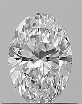 Foto 0.55 quilates, diamante ovalado con muy buen corte, color D, claridad VS1 y certificado por GIA de