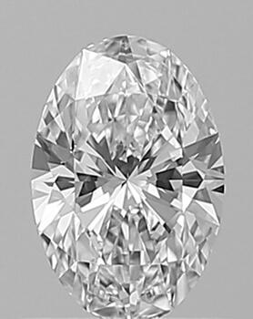 Foto 0.56 quilates, diamante ovalado con muy buen corte, color E, claridad VS1 y certificado por GIA de
