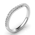 Foto Alianza de boda a juego para amigos con anillo de compromiso de diamantes laterales de
