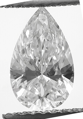 Picture of 1.02 Carats, Pear Diamond with Very Good Cut, G Color, VS2 Clarity and Certified By CGL