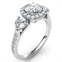 Foto Anillo de compromiso rico, el precio incluye dos diamantes laterales de 0.50 de