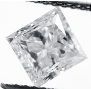 Picture of 1.22 Carat, Princess natural diamond with  Very Good Cut, G Color, VS1 Clarity and Certified by IGL.