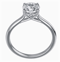 Picture of Romantic solitaire engagement ring for all shapres and sizes