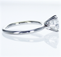 Picture of Solid tube engagement ring with 6 prongs Tiffany style head