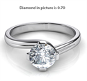 Picture of Sleek and elegant solitaire engagement ring