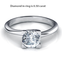 Picture of Dainty solitaire engagement ring