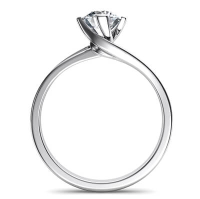 Solitaire engagement ring with a twist