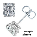 Picture of Cushion natural diamonds stud earrings, 1.42 Carat G VS2, F SI1