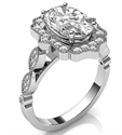 Picture of Vintage style Halo ring head engagement ring