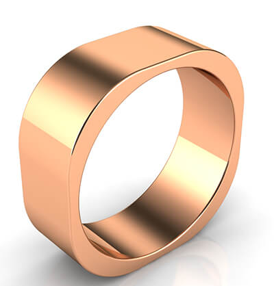 7mm square wedding band