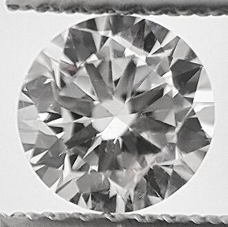 Foto 0,53 quilates, diamante natural redondo con corte ideal F SI1 y certificado por CGL de