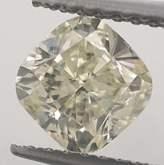 Foto 1.01 quilates, cojín de diamante con corte ideal, color N VVS2 Claridad mejorada y certificada por CGL de