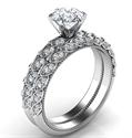 Picture of Leaf motif vintage bridal set with side diamonds 0.36 carat